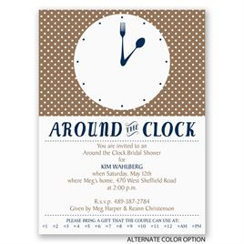 Modern Times - Petite Bridal Shower Invitation