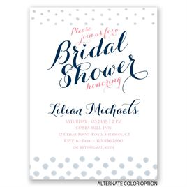Polka Dot Fade - Petite Bridal Shower Invitation