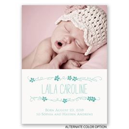 So Pretty - Mini Birth Announcement