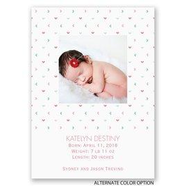 Tiny Hearts - Mini Birth Announcement