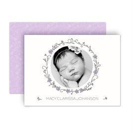 Baby Girl Birth Announcements: 