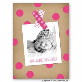 Dots and Washi - Petite Birth Announcement