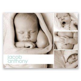 Cuddly Collage - Petite Birth Announcement