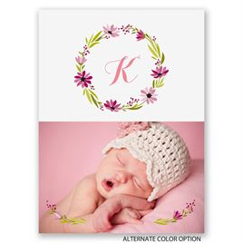 Fetching Flowers - Petite Birth Announcement