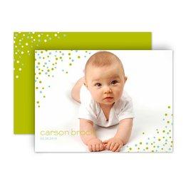 Birth Announcements: Little Dots Petite Birth Announcement