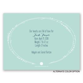 Fell In Love - Petite Birth Announcement