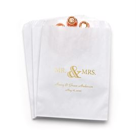 Golden Elegance - White - Favor Bags