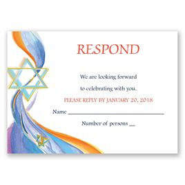 Star of David - Response Card