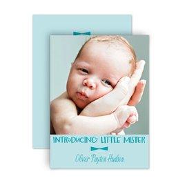 Birth Announcements: Little Mister Petite Birth Annoucement