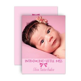 Birth Announcements: Little Miss Petite Birth Announcement