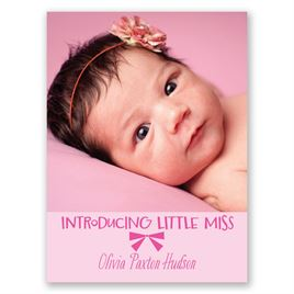 Little Miss - Petite Birth Announcement