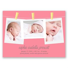 Pretty Pins - Petite Birth Announcement