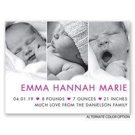 My Little Heart - Petite Birth Announcement
