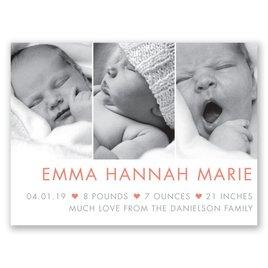 My Little Heart - Petite Birth Announcement