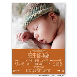 Struck by Love - Petite Birth Announcement