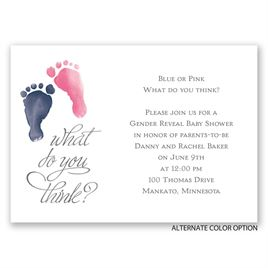 Baby Feet - Mini Gender Reveal Invitation