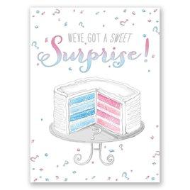 Sweet Surprise - Petite Gender Reveal Invitation