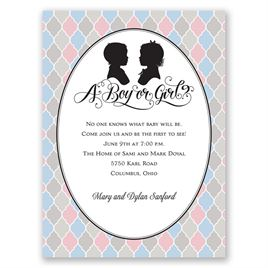 Modern Vintage - Petite Gender Reveal Invitation