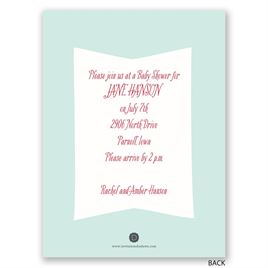 So Excited - Petite Baby Shower Invitation