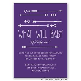 To the Point - Mini Gender Reveal Invitation