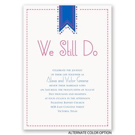 Banner and Dots - Vow Renewal Invitation