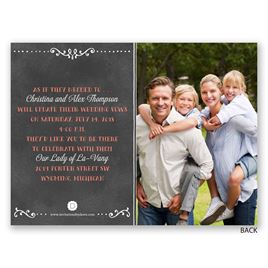 Chalkboard Banner - Petite Vow Renewal Invitation