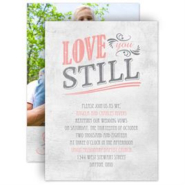 Vow renewal invitations invitations by dawn vow renewal invitations love you still vow renewal invitation stopboris Images