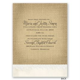 Rustic Renewal - Petite Vow Renewal Invitation