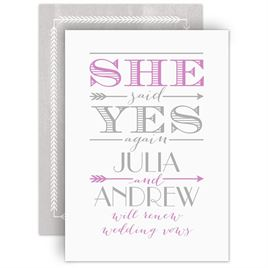 Vow Renewal Invitations: 