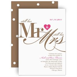 Vow Renewal Invitations Invitations By Dawn