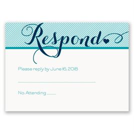 Pinstriped Romance - Response Card