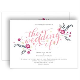 Pink Wedding Invitations: 