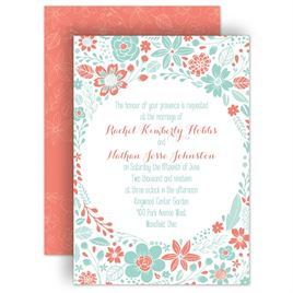 Coral Wedding Invitations: 