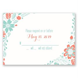 Pretty Little Flowers - Response Card