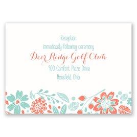 Pretty Little Flowers - Reception Card