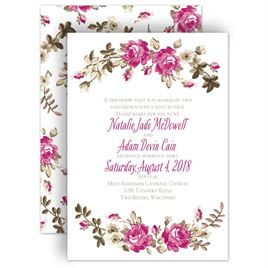 Watercolor wedding invitations invitations by dawn watercolor wedding invitations floral beauty invitation junglespirit Image collections