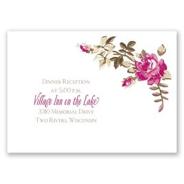 Floral Beauty - Reception Card