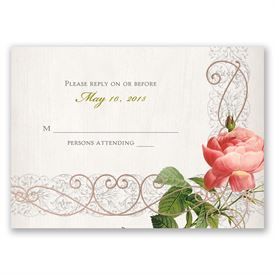 Boho Beauty - Rose Gold - Foil Response Card
