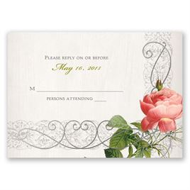 Boho Beauty - Silver - Foil Response Card