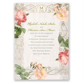 Boho Beauty - Gold - Foil Invitation
