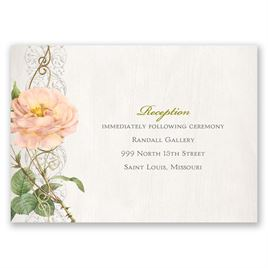 Boho Beauty - Gold - Foil Reception Card
