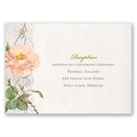 Boho Beauty - Rose Gold - Foil Reception Card