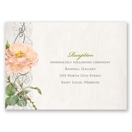 Boho Beauty - Silver - Foil Reception Card