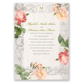 Boho Beauty - Silver - Foil Invitation