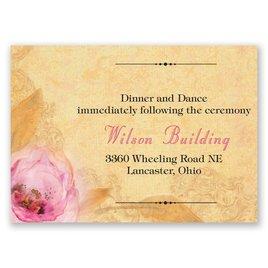 Watercolor Beauty - Reception Card