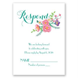 Floral Typography - Response Card