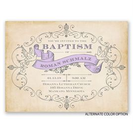 Classic Beauty - Petite Baptism Invitation