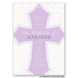 Bold Cross - Baptism Invitation