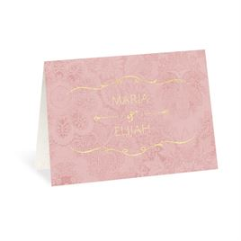 Antique Roses - Foil Thank You Card