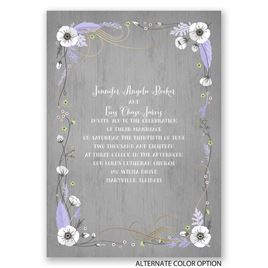 Rustic Floral - Gold - Foil Invitation